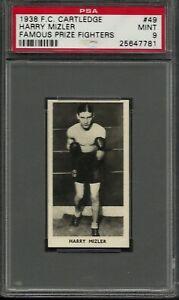 1938 F.C. CARTLEDGE #49 HARRY MIZLER PSA 9 MINT POP 4 FAMOUS FIGHTERS BOXING