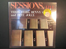 Sessions, Live, Terry Gibbs,Benny Carter,and Pete Jolly, sealed LP, Calliope