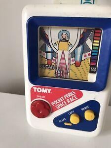 Vintage - Tomy Pocket Perils Space Race Rocket Wind Up Children's Handheld Game
