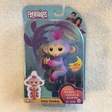Fingerlings Baby Monkey - Sydney - Purple Monkey - Interactive Toy Pet - NIB
