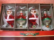"Christopher Radko Old-World Style ""Shiny Brite"" Christmas Ornament Set *New*"