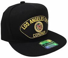 City Of Los Angeles Coroner Department Hat Color Black Snapback Adjustable