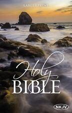 NKJV Holy Bible, Larger Print by Thomas Thomas Nelson (2016, Paperback)