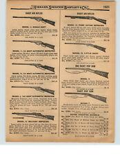 1927 PAPER AD Benjamin Quackenbush Air Rifle Felted Slugs Daisy Model 25 Pump