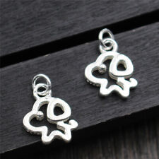 10pcs New 925 Sterling Silver Pendant Lovely Hollow Dog Charm for DIY Jewelry