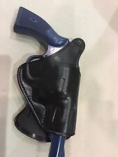 Leather PADDLE Holster for S&W K Frame REVOLVER  (#3212 BLK)