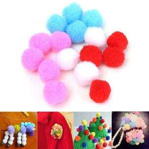 100Pcs Poms Mixed Color Kids Toys Balls Craft Pompoms Accessories DIY Crafts