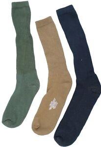 USOA ANTI-MICROBIAL BOOT SOCK 3 Pair Black/OD/Tan/Coyote Military Socks