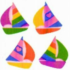 **RARE**  PEARLY SAILBOAT SAIL BOAT Sandylion Stickers - 2 squares NOT IN PRINT