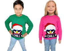 Kids Boys Childrens Girls Christmas Novelty Penguin Jumper Xmas Knitted Sweater