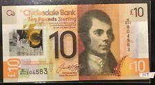Scotland, Clydesdale Bank, 10 pounds 2017, P-New, POLYMER, UNC > Robert Burns