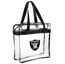 Oakland Raiders Clear Plastic Zipper Tote Bag NFL 2016 Stadium Approved