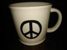 Natural Life Featuring the Peace Sign in Black & Cream Oversized Cup Mug New
