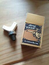 Bray  finax 10 1/2 L carbide lamp burner, new old stock, boxed, very rare