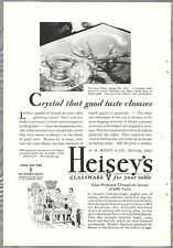 1930 HEISEY GLASS advertisement, crystal, Heisey's Glass 1401 pattern, Empress