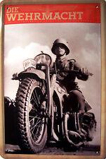 Die Wehrmacht Kradmelder Blechschild Schild gewölbt Metal Tin Sign 20 x 30 cm