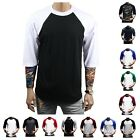 Men T- Shirt Baseball Raglan Crew Sports Team Hipster Big &Tall Workout CAMO Tee