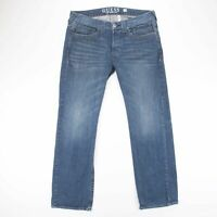 Vintage Guess Los Angeles Relaxed Straight Leg Fit Men's Blue Jeans W38 L34