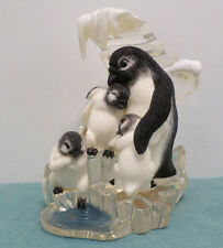 "Polar Playmates Penguin Figurine ""It's Too Cold"" The Hamilton Collection 1999"