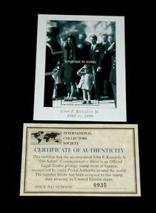 1999,REPUBLIC OF GUINEA, JOHN F. KENNEDY, SOUVENIR SHEET, MNH, W/COA #0935, LQQK