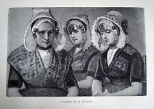 96-30 Gravure 1890 femmes de la Zélande