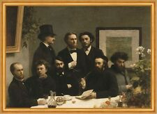 By the table Henri Fantin-Latour table hommes cylindre costume finement B a2 02243