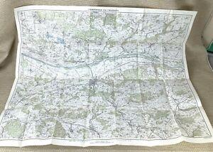 1947 Vintage Map of Switzerland Frauenfeld Thurgau Tobel Elgg Winterthur Swiss