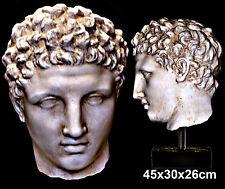 Greek Italian Roman sculpture statue head of Olympian God Hermes. Over Life size