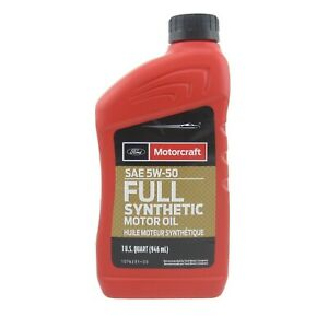 Motorcraft 5w50 Synthetic Engine Oil XO-5w50-QGT case of 12 quarts Ford