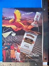 1982 Cuervo Tequila  Print Ad    Advertisment