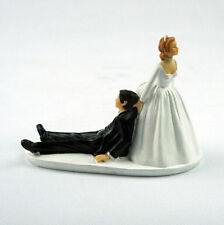New Humor Marriage Funny Polyresin Figurine Bride&Groom Wedding Cake Toppers