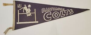 "VINTAGE 1960'S BALTIMORE COLTS TEAM LOGO NFL FELT 30"" PENNANT RARE"