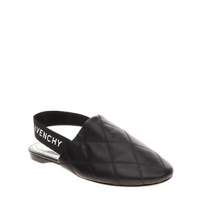RIGHT SHOE ONLY RRP€575 GIVENCHY Leather Slingback Shoes EU 36 UK 3 US 6 Quilted