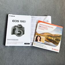 Canon EOS 100D Camera Original Instruction Manual Kit