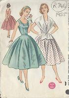 "1955 Vintage Sewing Pattern B33"" DRESS & STOLE (R346)"