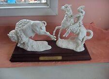 Vintage Goebel Sculpture Figurine The Plains Hunter Signed Skrobek #103 Ltd Ed