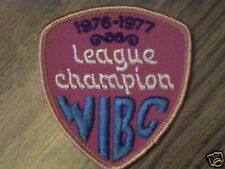 WIBC,LEAGUE 1976-77 CHAMPION  BOWLING VTG,AWARD  PATCH