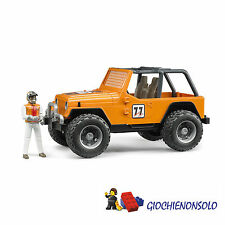 BRUDER 02542 - CROSS COUNTRY RACER ARANCIO CON PERSONAGGIO