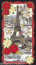 Christmas Panel Eiffel Tower Paris Joyeux Noel Timeless Treasures Fabric