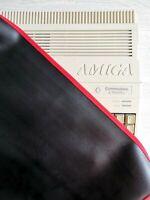 AMIGA 500 / AMIGA 500PLUS - FAUX LEATHER - BLACK DUST COVER - STYLISH