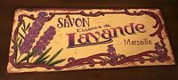 Savon Essence de Lavande Marseille Decorative Metal Frame 12x5 Collectible