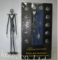 The Nightmare Before Christmas Jack Skellington Figure 12 Skull Heads Toys