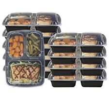 Glomery 20 Piece Reusable Food Storage Containers 3 Compartments