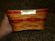 Longaberger shining star basket.with Liner and Protector 2001