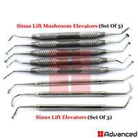 8Pcs Sinus Lift Elevators Mushroom Implant Oral Surgery Bone Curettes Periosteal