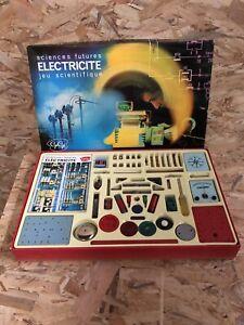 Ancien Jeu GEGE Sciences Futures ÉLECTRICITÉ Jeu Scientifique + Boîte Vintage