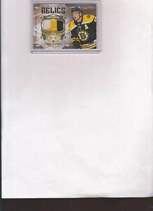 2019/20 BLACK DIAMOND PATRICE BERGERON DIAMOND RELIC 3 COLOR PATCH CARD #d/30