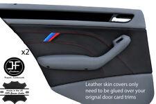 Cuir Gris 2X Porte Arrière Accoudoir Couvre Fits BMW E46 Cabriolet Coupé