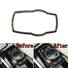 Carbon Fiber Interior Multimedia Button Trim Cover Frame For BMW X5 E70 08-2013