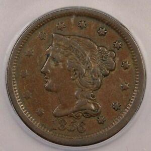 1856-P 1856 Liberty Head Cent ICG VF30 Slanting 5